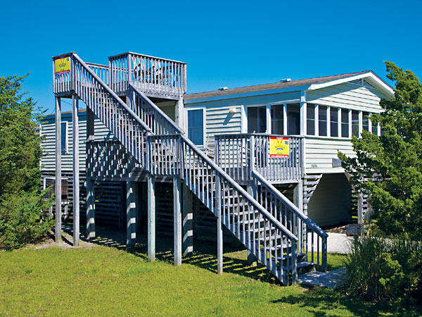 The beach house 3 bedroom ocean side home in salvo obx nc for Beach house plans outer banks