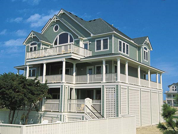 Four Winds 6 Bedroom Semi Ocean Front Home In Avon Obx Nc