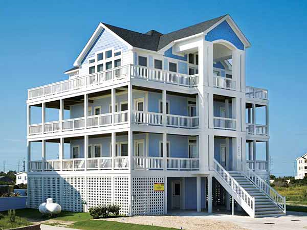 Marvelous Cape Winds 6 Bedroom Ocean View Home In Rodanthe Obx Nc Home Interior And Landscaping Ponolsignezvosmurscom