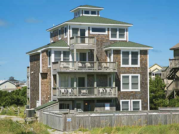 Hatteras escape 8 bedroom ocean front home in waves obx nc for Hatteras homes