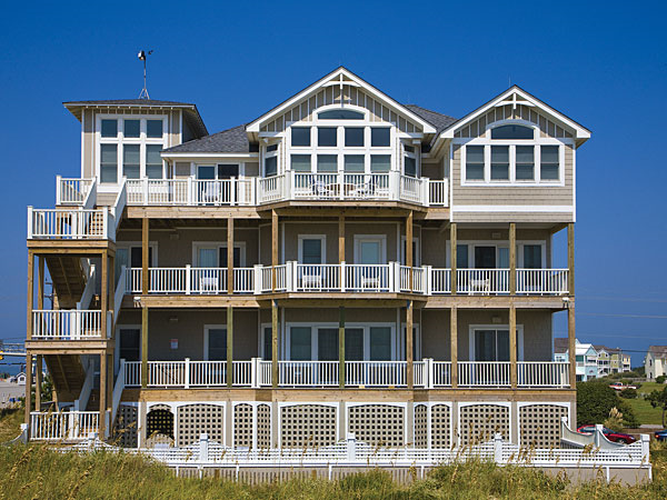 Hatteras dream 7 bedroom ocean front home in hatteras for Hatteras homes
