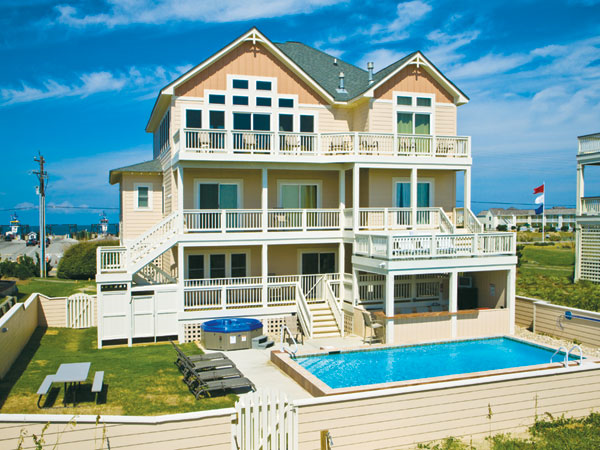 Island S End 6 Bedroom Ocean Front Home In Hatteras Obx Nc