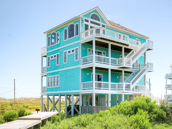 Paradise cove 6 bedroom sound front home in hatteras obx nc for Hatteras homes