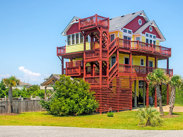 Peachy The Palm House 6 Bedroom Ocean View Home In Waves Obx Nc Home Interior And Landscaping Ponolsignezvosmurscom