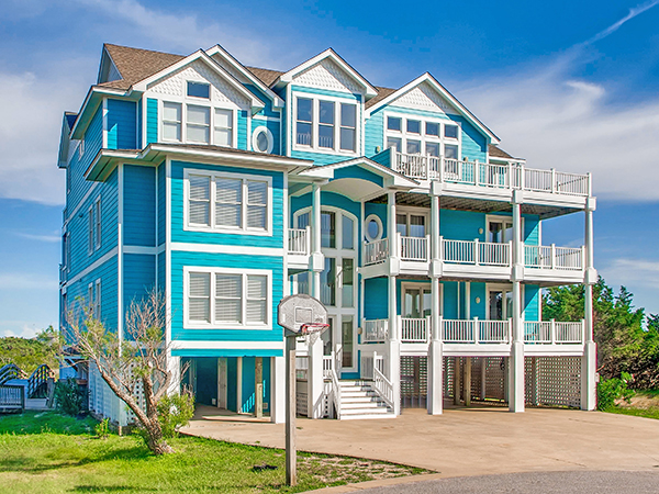Kinnakeet Sunset 48 Bedroom Sound Side Home In Avon OBX NC Beauteous 12 Bedroom House