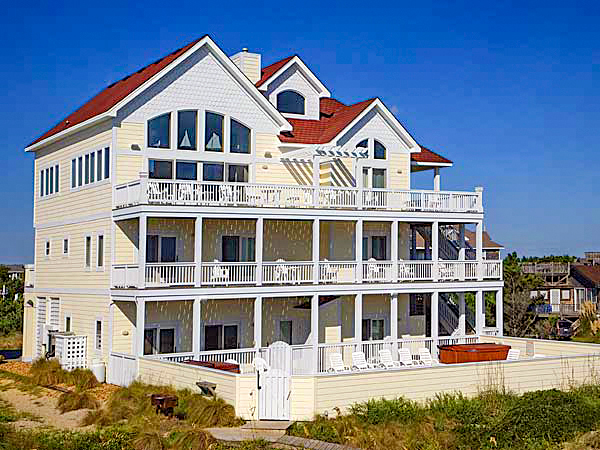 Castlemere, 10 bedroom Ocean Front home in Avon, OBX, NC