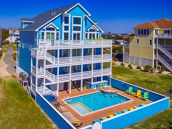 . Moonshine  8 bedroom Ocean Front home in Salvo  OBX  NC