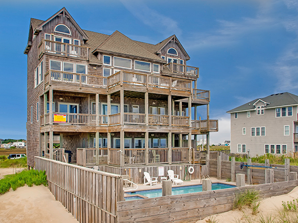 Admirable Clear Skies 6 Bedroom Ocean Front Home In Rodanthe Obx Nc Home Interior And Landscaping Ponolsignezvosmurscom