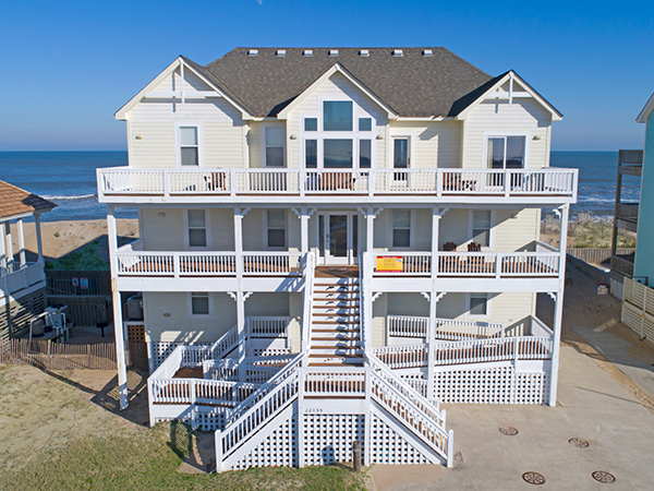 Mirlo Hi 7 Bedroom Ocean Front Home In Rodanthe Obx Nc