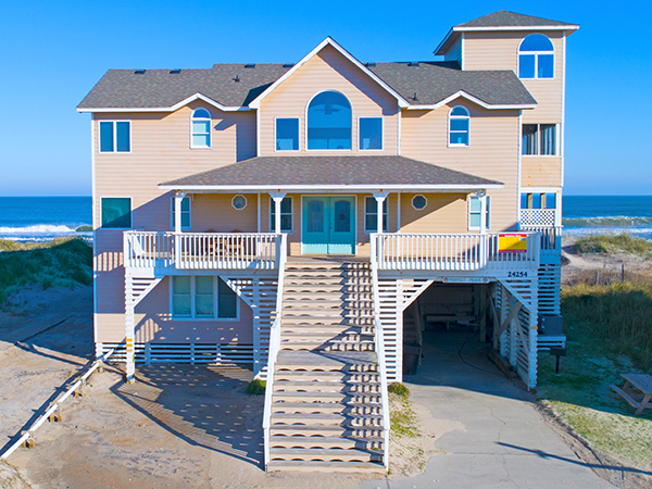 Incredible Perfect Peace 7 Bedroom Ocean Front Home In Rodanthe Obx Nc Home Interior And Landscaping Ponolsignezvosmurscom
