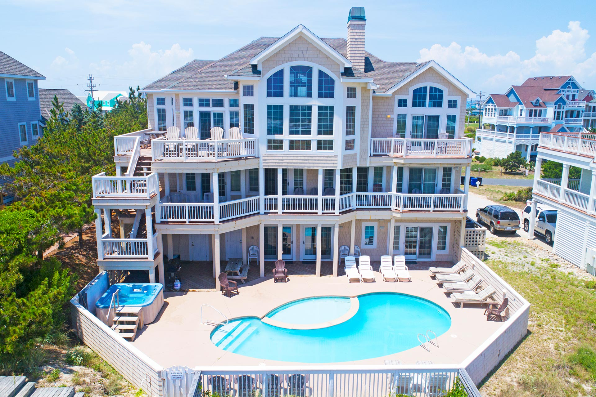 Landfall 7 Bedroom Ocean Front Home In Hatteras Obx Nc