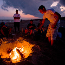 Cape Hatteras National Seashore campfire