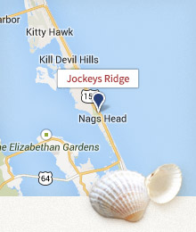 Jockey Ridge State Park, NC map